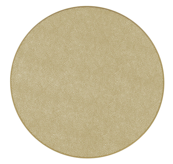 "Dot Fan 15"" Round Placemats - Set of 4"