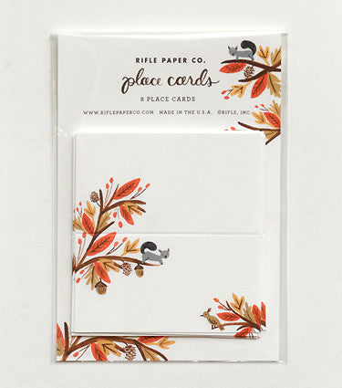 Fall Squirrel Place Cards