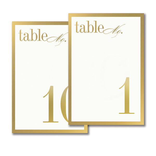 Gold Bordered Table Cards