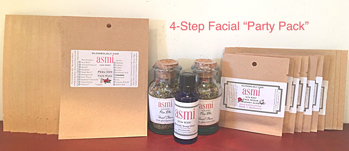 4 Step Facial - Party Pack for 10 NEW