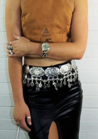 Amelia Gypsy Coin Belt