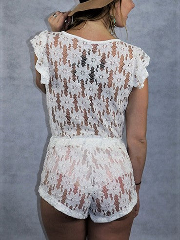 Leisure Laced Playsuit
