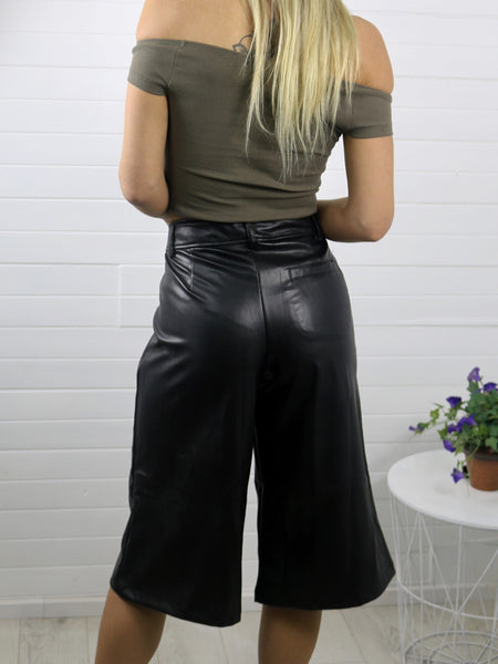 Follow Me Leather Culottes