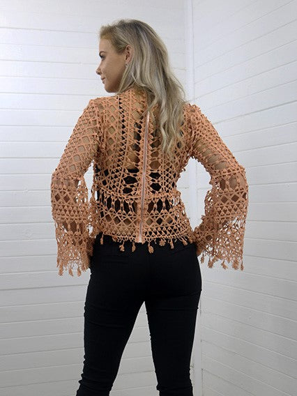 Peaches Netted Top