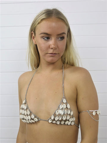 Shell Chain Bralette