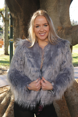 Paris Shaggy Fur Coat