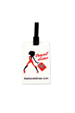 Travel Divas 2D Design Luggage Tag