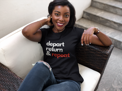 Depart, Return and Repeat Graphic Tee