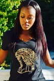 Travel Divas Culture T-shirt - MY HAIR GOLD FOIL