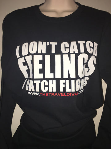 I Catch Flights T-Shirt (BLACK) Long Sleeves