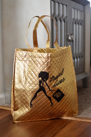 Travel Divas Gold Tote Bag