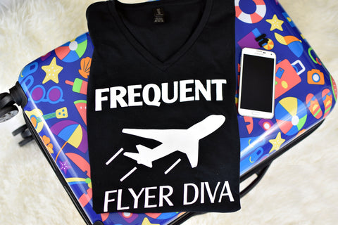 Frequent Flyer Diva - Black
