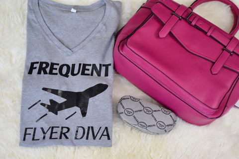 Frequent Flyer Diva - Gray