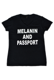 Melanin and Passport Short Sleeve T-shirt