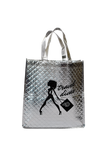 Travel Divas Silver Tote Bag