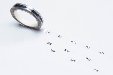 Abbreviated Months (Perforated) Overlay Tape