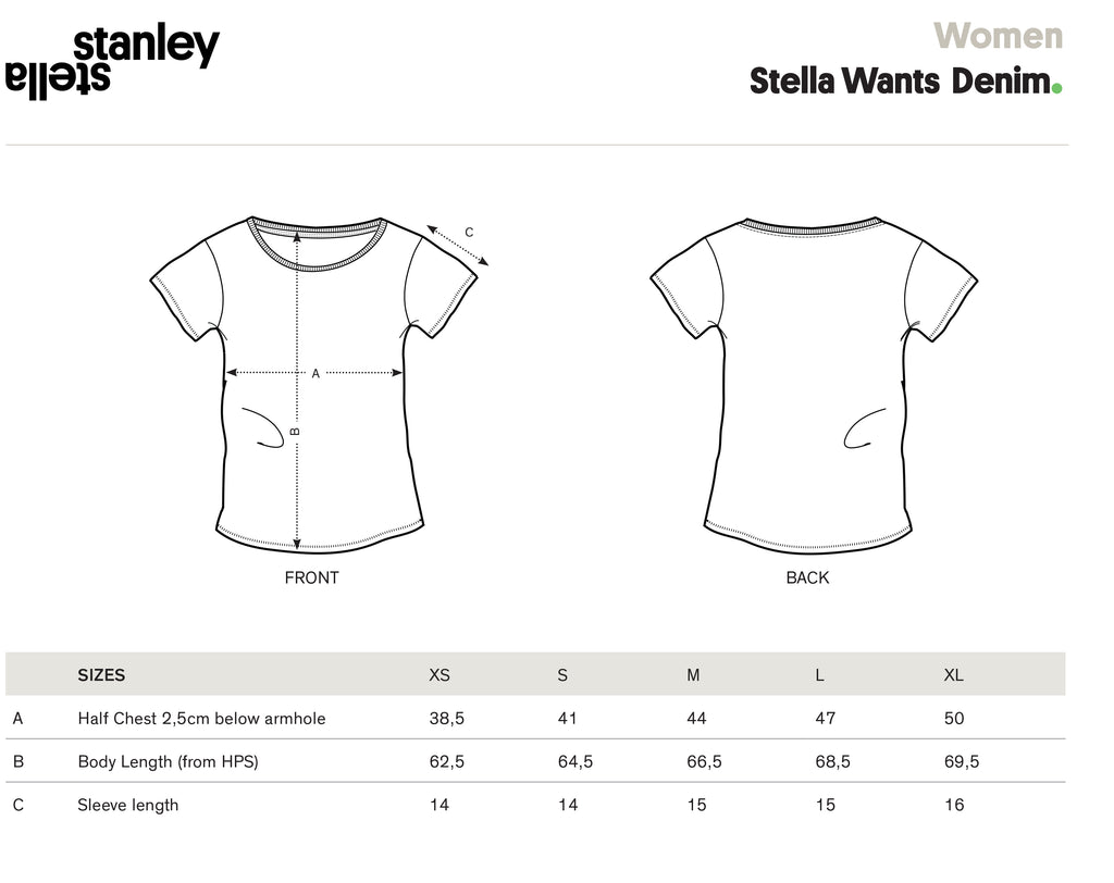 stanley stella size guide
