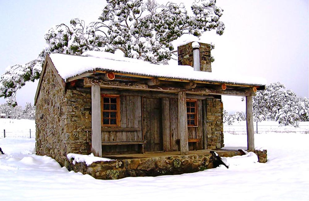 moonbah huts skiing destination NSW