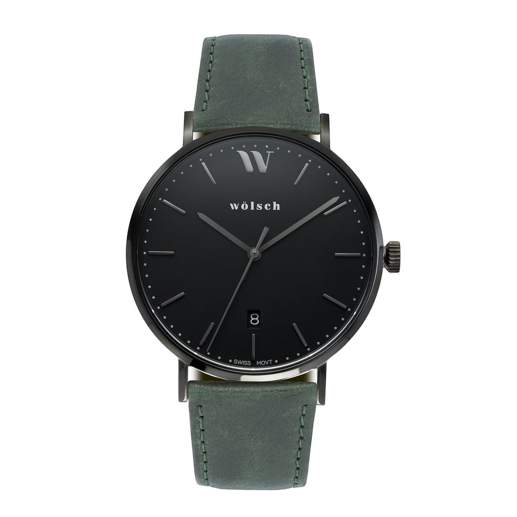 Wolsch luxury watch leather band