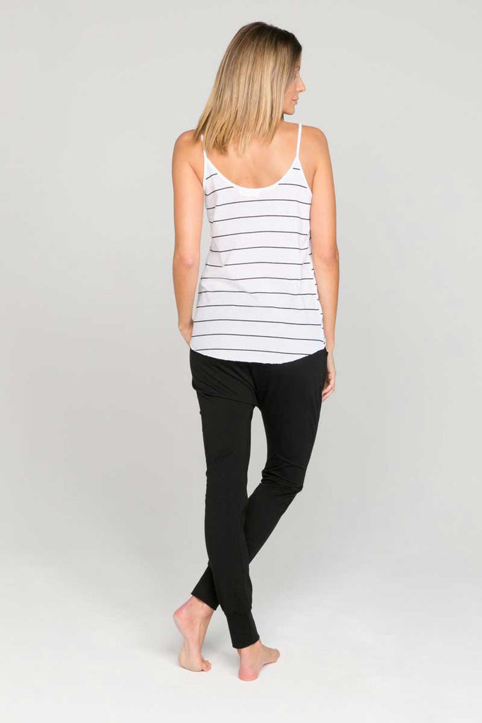 womens organic cotton striped singlet