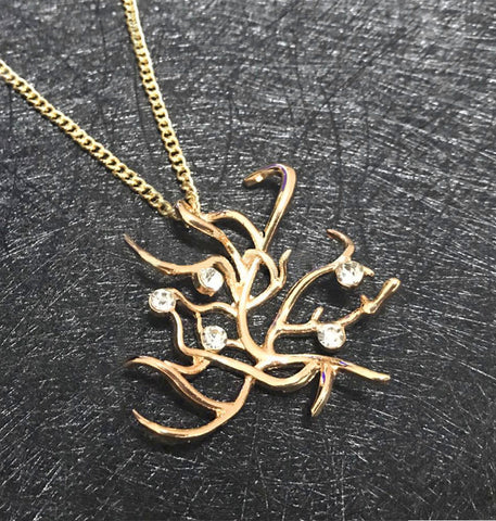Belle's Rose Tree Necklace Pendant
