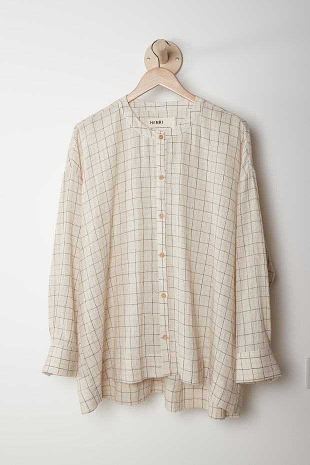 Leila Shirt, Natural Check