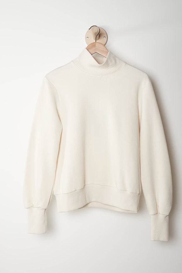 Rib Sweater, Ecru