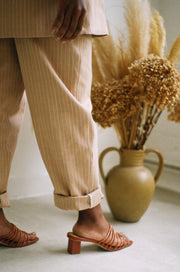 Worker Trousers, Chai Stripe