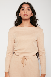 Boatneck Top, Brown