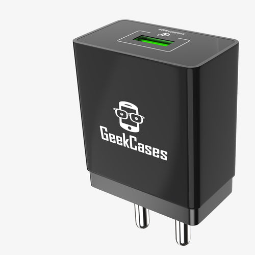 ZipCube QC3.0 Wall Charger Adapter (Black) - GeekCases
