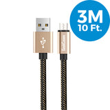 Xtreme Micro USB Charge Sync And Cable- Gold