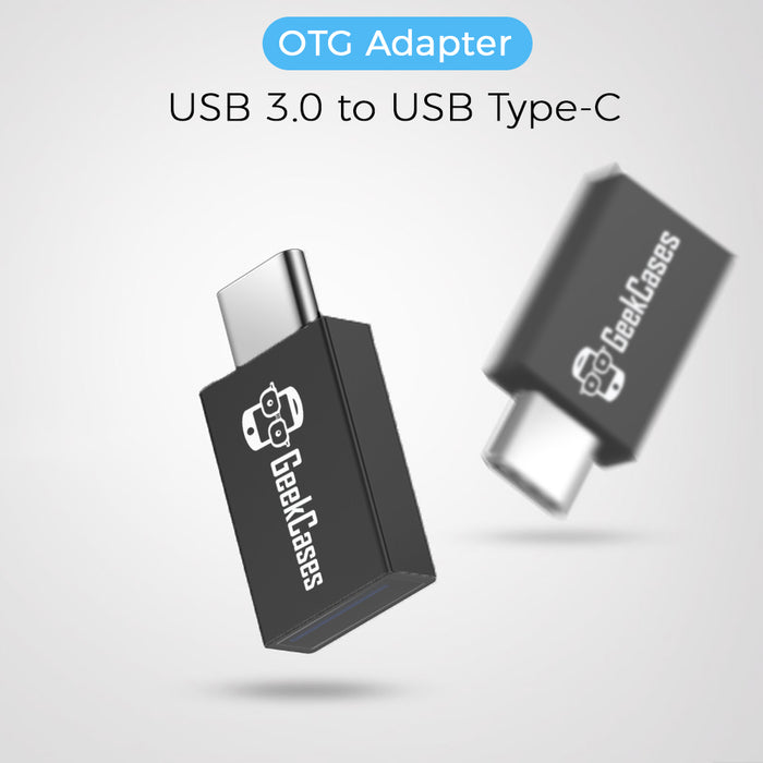 GeekCases USB 3.0 to USB Type-C OTG Adapter for Data Syncing & Charging (Black) - GeekCases