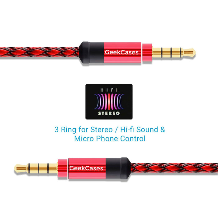 AUX Cable 3.5mm Audio Ports - GeekCases