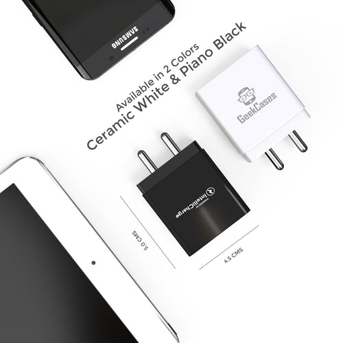 ZipCube+ 3 USB 3.4A Wall Charger Adapter - Black - GeekCases