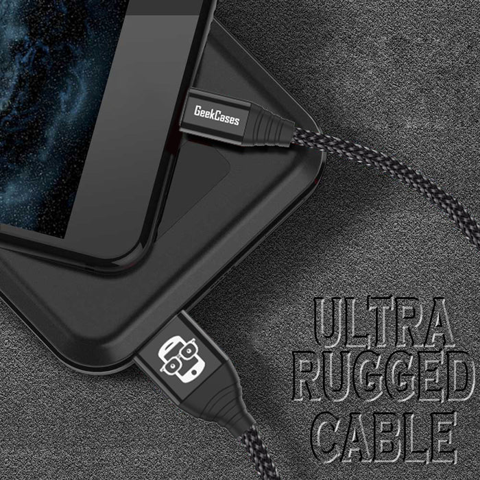 Xtreme Pro Micro USB Data Sync and Charge Cable - Black - GeekCases