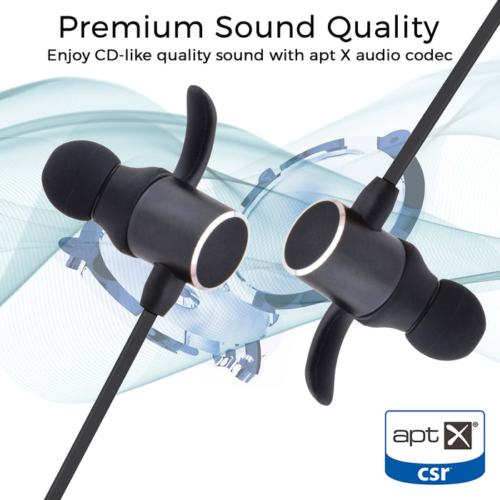 GeekCases Magnetic Bluetooth Earbuds  BT-C 515 (Black) - GeekCases