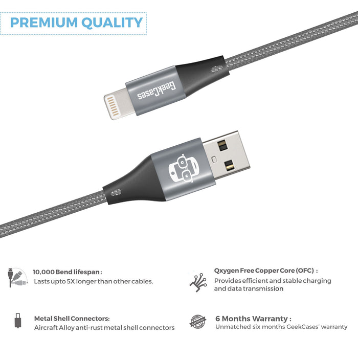 GeekCases Primo Lightning [1.8M - 6 Feet] Cable - GeekCases
