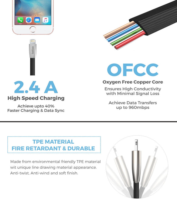Rhombus 3D Micro USB Sync And Charge Cable - GeekCases