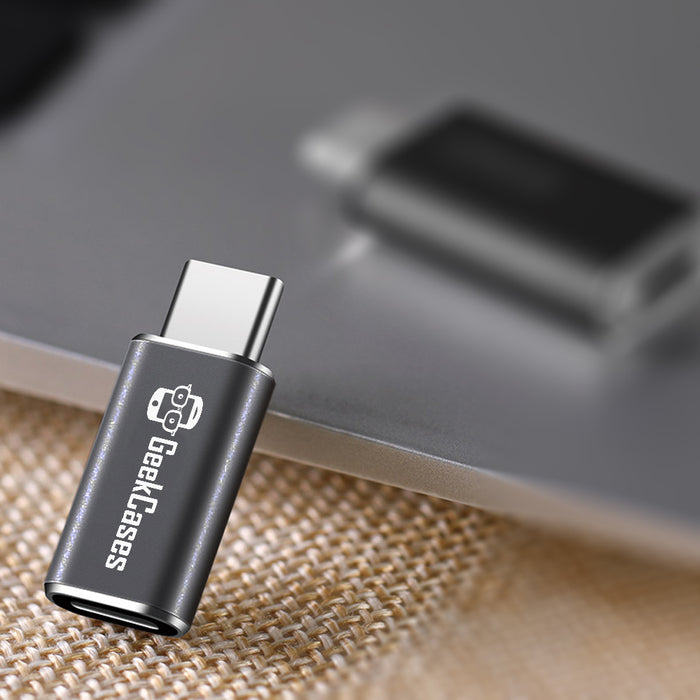 Micro USB to USB Type-C Adapter for Data Syncing & Charging - GeekCases