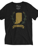 Indiana Crest (IN) -Green and Gold Print-