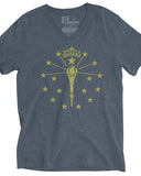 Torch and Stars (IN) -Gold Print-