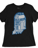 Indy Droid (IN) -Blue and White Print-