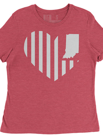 United State Heart Flag (IN) Women's Tee