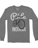 Ride Indiana Bicycle (IN) -Black / White Print-