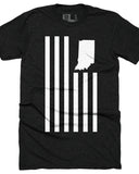 United State Flag (IN) -White Print-