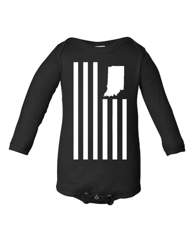 Kids -United State Flag- (IN) Long Sleeve Onesie