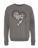 My Heart Is Racing (IN) Unisex Crewneck Sweatshirt