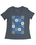 Exhibit Columbus Women's V-Neck (IN) -Multi-Color Print-