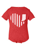 Kids -Heart Flag- (IN) Onesie