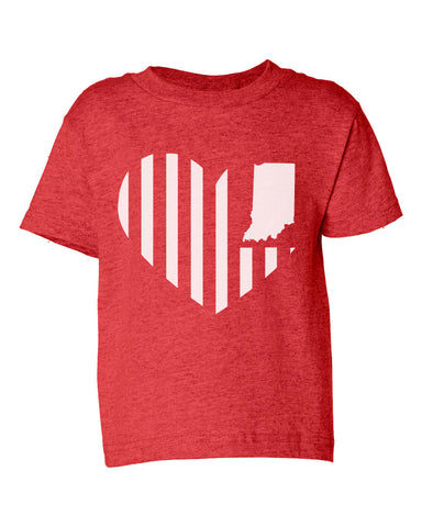 Kids -Heart Flag- (IN) Toddler Tee
